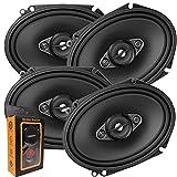 2 Pairs of Pioneer 5x7/ 6x8 Inch 4-Way 350 Watt Car Audio Speakers | TS-A6880F (4 Speakers) + Free Gravity Mobile Bracket Holder