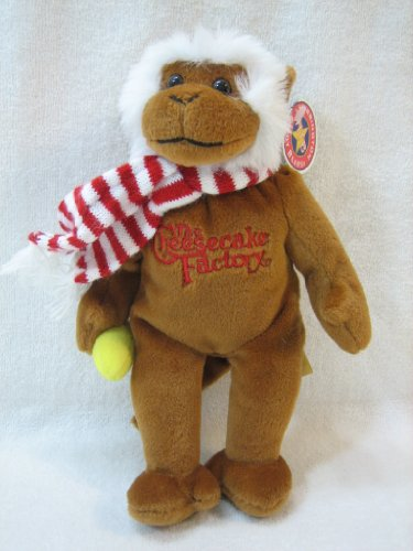 the-cheesecake-factory-small-8-holiday-plush-monkey-by-herrington-teddy-bears