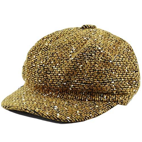 Guoshang Berets for Women Tweed-Plaid Newsboy Hats Classic Painter Newsboy Cap