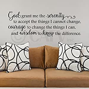 God Grant Me the Serenity to Accept the Things I Cannot Change wall sayings vinyl lettering home decor quotes appliques