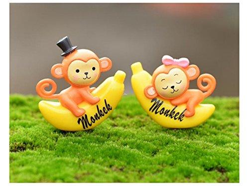 FenBuGu-JP DIYのミニチュアかわいい猿バナナガーデンドールハウス装飾品マイクロランドスケープクラフト装飾(イエロー)の商品画像