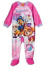 Paw Patrol Pawsome Moves Toddler Girls Pink Footed Sleeper Pajamas