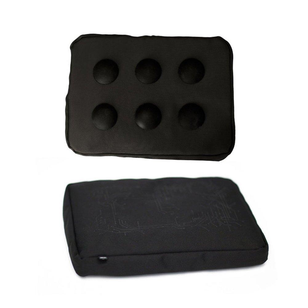 Bosign Surfpillow Hitech Shapeable Cushioned Laptop Lapbag, Black