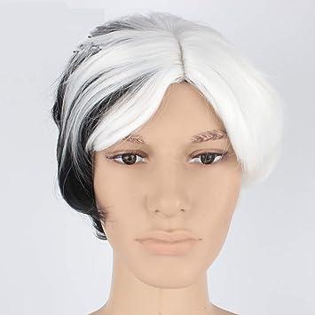 Pelo corto de blanco