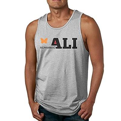 PTCY Men's Customize Sleeveless Shirt Funny Butterfly Muhammali Logo Ash