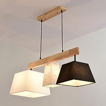 Holz Pendelleuchte Esstisch Deckenleuchte Wohnzimmer Lampe E27 Decke ...