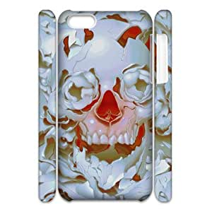 Cell phone 3D Bumper Plastic Case Of Skull For iPhone 5C