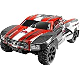 Redcat Racing Blackout SC 1/10 Scale Electric Short Course Truck with Waterproof Electronics Vehicle, Red