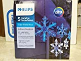 Philips 5 Count LED  Blue/Cool White Color Changing Multi-Function Snowflake String Lights