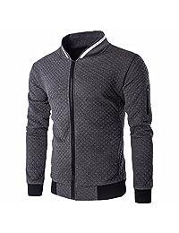 Men's Stand Collar Slim Fit Varsity Baseball Jacket Bomber Zipper Coat