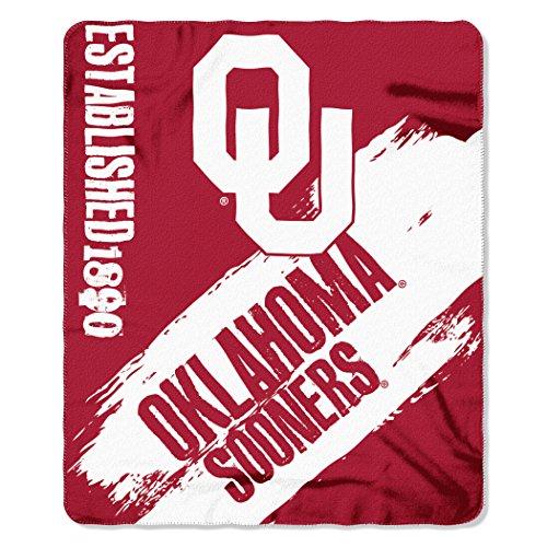 The Northwest Company NCAA Oklahoma Sooners Painted Printed Fleece Throw Blanket, 50