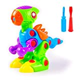 Disassemble Toy, Dinosaur Assembly Tyrannosaurus Take-Apart Toys for Kids, The Best DIY Construction Puzzle Toys for Children over 3 Years Old, with Lights and Sound