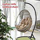 shzons swing hanging basket seat cushion thicken hanging egg hammock chair pad for home(cushion