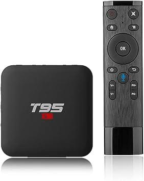 Android 7.1 TV Box, T95 S1 Smart Internet TV Box Amlogic S905W Quad Core 1GB / 8GB con Pantalla Digital HDMI HD 4K Ethernet: Amazon.es: Electrónica