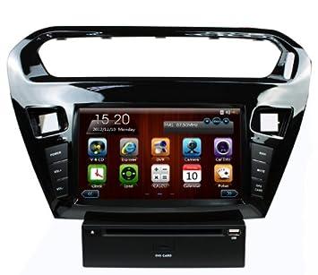 lsqSTAR para Peugeot 301 pantalla táctil estéreo de coche navegación GPS DVD ATV USB iPod Bluetooth Multimedia Player con Free mapa: Amazon.es: Coche y moto