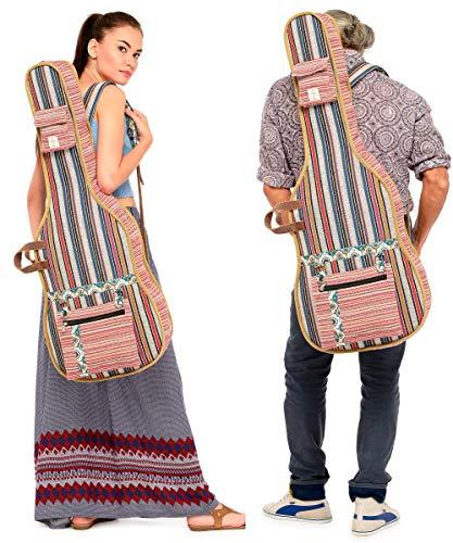 The House of Tara - Multicolour Handloom Fabric Guitar Bag 2