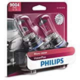 Philips 9004 Lámpara delantera Premium Vision Plus, paquete de 2