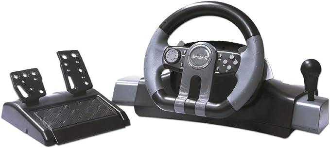 Kontorland PS-4100 mando y volante Volante + Pedales PC ...