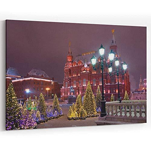 Christmas Trees at The Manezhnaya Square Canvas Art Wall Dcor Modern Wall Decor/Home Decoration (Manezhnaya Square)