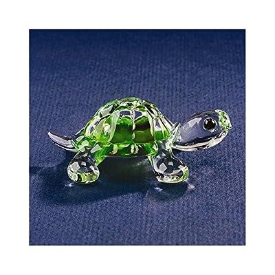 Goldia Green Turtle Glass Figurine