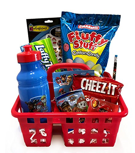 Paw Patrol Gift - For Toddler - For Young Child - For Boy or Girl - Christmas Gift Basket- Lots Of Fun, Snacks, and Activities for Christmas and Holiday Activities! (Paw Patrol - Chase & Marshall)