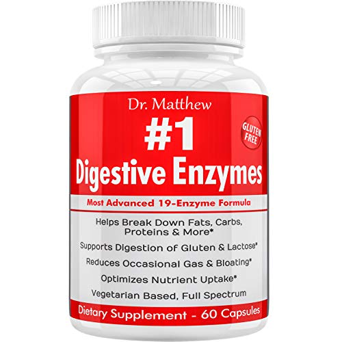 Enzymes for Digestion with Lactase Lipase Amylase Bromelain and 15 more! One of the Best Digestive Enzyme Supplements for IBS, Gallbladder, Gas, Bloating, Constipation Relief. Vegetarian, Gluten-Free