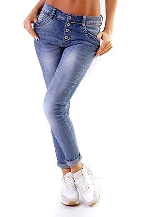 55c89a4f9ae0b0 OSAB-Fashion 11268 LEXXURY Damen Jeans Röhrenjeans Hose Knopfleiste  Damenjeans Boyfriend Haremshose