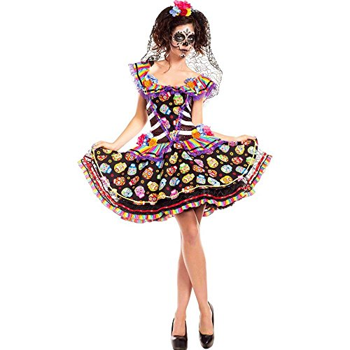 [Sugar Skull Senorita Adult Costume] (Catrina Costume For Sale)