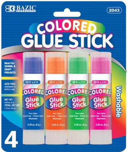 8g/0.28 oz. Colored Glue Stick - 4 Pack 144 pcs sku# 1795107MA by DDI