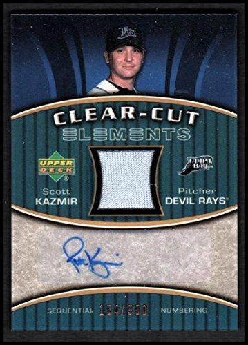 2007 Upper Deck Elements Clear Cut Bronze #SK Scott Kazmir AUTO JERSEY/350