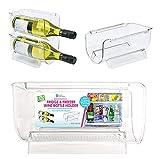 Home Expressions Stackable Fridge and Freezer Wine Bottle Holder