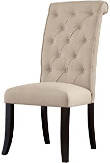 tufted dining room chairs. Ashley Furniture Signature Design  Tripton Dining Room Side Chair Set Upholstered Vintage Casual Amazon com Best Selling Natural Tall Tufted 2 Pack