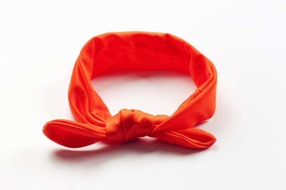 Kanggest Coppia di fasce elastiche annodabili a fiocco per acconciare i capelli rosso 15 x 3.25 blu colore ideali come accessori per mamma e figlia