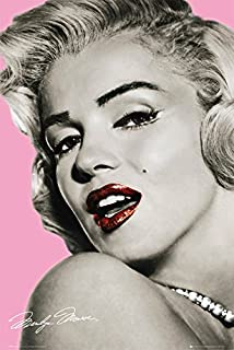 gb eye marilyn monroe pink lips maxi poster multi colour