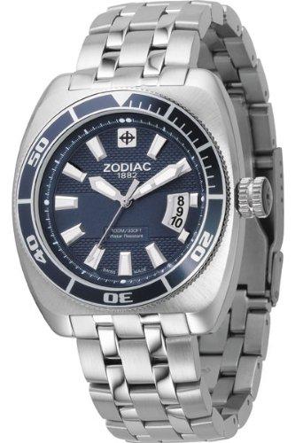 Zodiac ZO4504 - Reloj analógico de cuarzo para mujer con correa de titanio, color negro