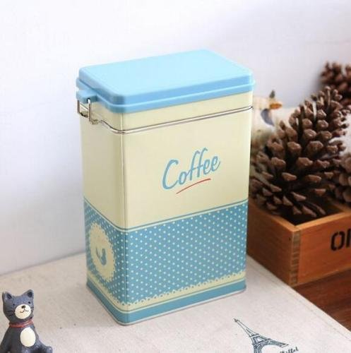 bb-blue-large-sealed-kitchen-coffee-tea-sugar-jar-tin-metal-box-polka