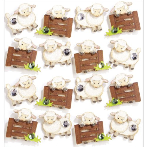 Jolee's Boutique Repeats Dimensional Stickers, Sheep