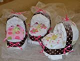 CSM Diaper Bassinets / Baby Shower Centerpieces (Set of 3) (Buy From CSM Diaper Cakes to Get One Exactly As Pictured)