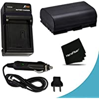 Canon LP-E6 Battery Replacement with AC/DC Quick Charger Kit for Canon EOS 7D Mark II, EOS 7D, EOS 70D, EOS 6D, EOS 60D, EOS 60Da, 5D Mark II, EOS 5D Mark III DSLR Cameras