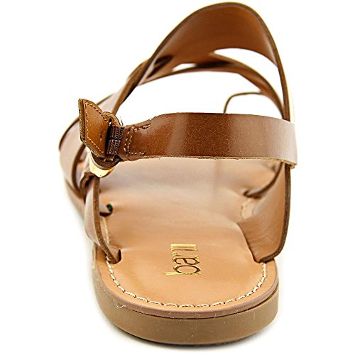 Bar III Voltage Damen Offener Spitze Kunstleder Slingback Sandale Dark Tan