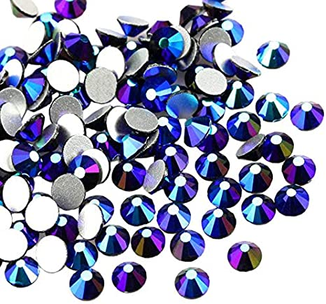 Mixed Size AB Iridescent Crystal Clear Aurora Borealis Rhinestones 2-6mm