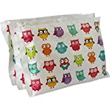 "Ice Pack for Lunch Boxes (3 Pack) by Bentology (6""x4.5"") - Owl Design"