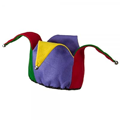 Jacobson Hat Company Colorful Felt Jester Hat,Multi-Colored,One Size: Toys & Games