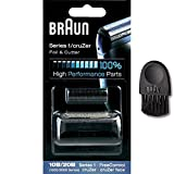 Braun Thermoscan Parts - Braun Kombipack Series 1 10B 1000/2000FC 5729761, 5729769 1000 series Shaver Replacement Foil and Cutter Cassette Cartridge with Cleaning Brush (10B)