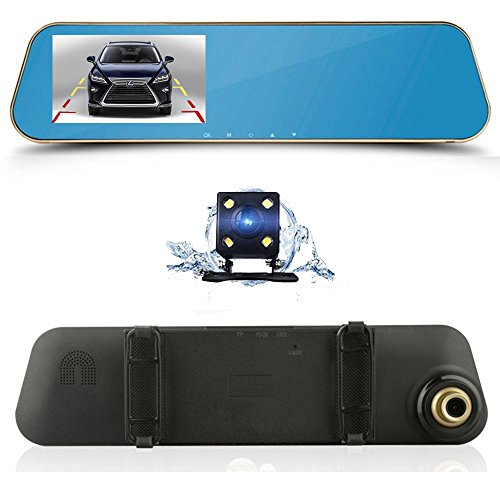 Dual Lens Car Camera Oxygentle Rear View Reverse Mirror