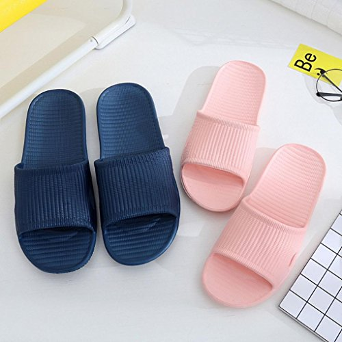Byste Flat Bath Slippers Summer Sandals Beach Shower Shoes Anti Slip Indoor & Outdoor Home Slippers Rubber Gladiator Men Women,UK Size 3-7.5,Guests Shoes Pink