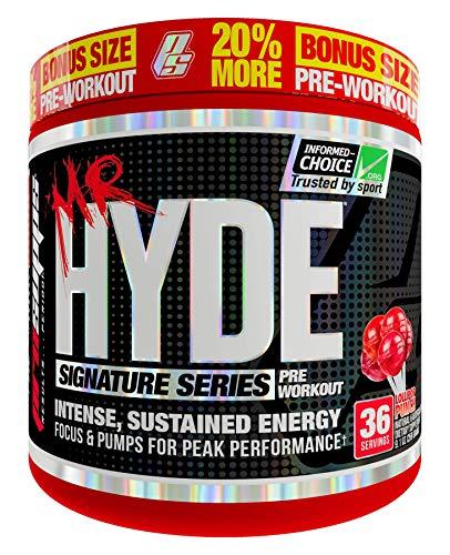 ProSupps Mr. Hyde Signature Series Pre-Workout Energy Drink - Intense Sustained Energy, Focus & Pumps with Beta Alanine, Creatine, Nitrosigine & TeaCrine - (36 serv 20% Bonus Lollipop Punch) (Best Pre Workout With Beta Alanine)