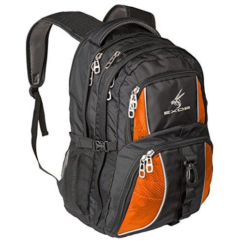 Travel Outdoor Computer Backpack Laptop bag (Orange) - 5