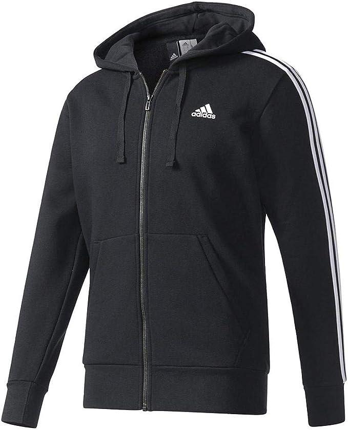 adidas Herren Essentials 3 Streifen Fleece Kapuzenjacke
