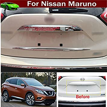1pcs ABS Chrome Car Back Rear Trunk Lid Cover Molding Trim Molding Strip Decorative Emblems For Nissan Murano 2015 2016 2017 2018